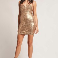 Metallic Sequin Tube Dress