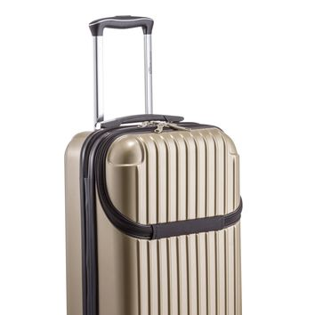 Euro Style Collection Ibiza Luggage Travel Bag ABS Trolley Spinner Suitcase Champagne
