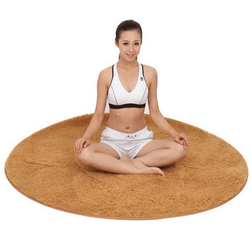 Super soft round rugs chair cushion Yoga mats Rugs for bedroom and living room [8069653831]