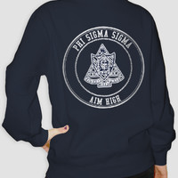 Phi Sigma Sigma - Aim High Crest Half Zip