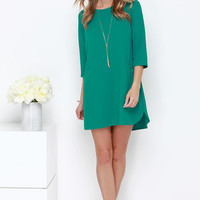 Jack by BB Dakota Dee Teal Shift Dress