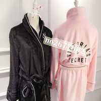 vs Sexy Cosplay dress costumes performance clothing female robe sexypink victoria Christmas secret Nightgown Bathrobes Pink