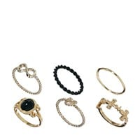 River Island | River Island Adorned Mixed Ring Pack at ASOS