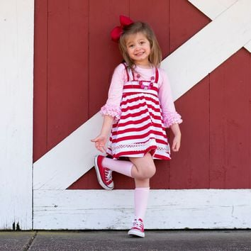 Candy Cane Suspender Skirt