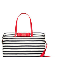 Kate Spade Julia Street Stripe Lyla Weekender Rich Navy/Cream ONE