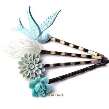 Ocean Beach Bobby Pins by LizHutnick on Etsy