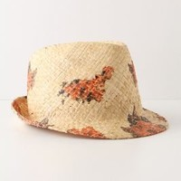 Poppy Fields Fedora-Anthropologie.com