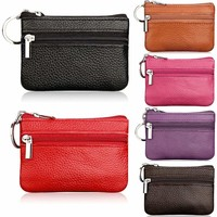 Womens Gilrs Leather Hand Wallet Coin Card Holder Mini Purse Cute Zipper Handbag