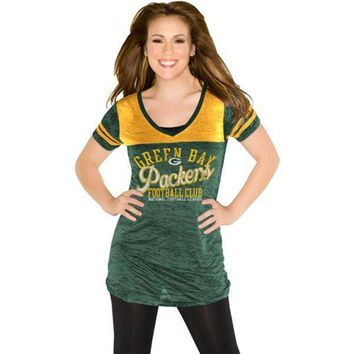 Touch by Alyssa Milano Green Bay Packers Womens Coop Premium T-Shirt - Green