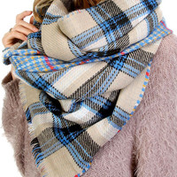Savannah Plaid Blanket Scarf