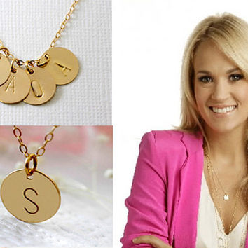 Exoticowl on wanelo 3 disc personalized necklace gold initial necklace gold ini aloadofball Gallery