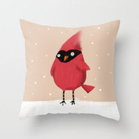 Winter Cardinal Throw Pillow by Dale Keys | Society6