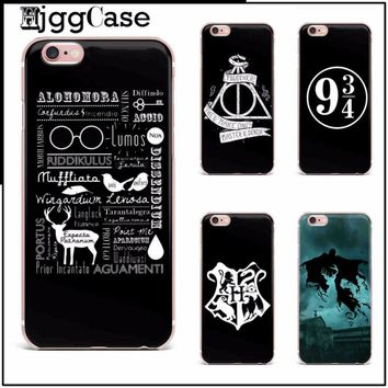 Harry Potter Hogwarts Pattern Case for iphone X 6 6S 5s SE 7 7plus 8 plus Soft Silicone TPU Phone Back Cover Case Capinha Coque