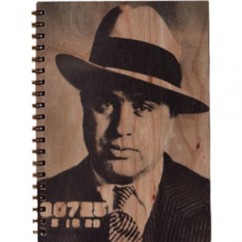 Al Capone Wood Notebook