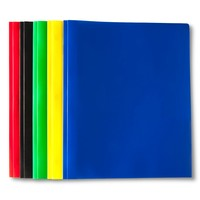 """Plastic Folders with Prongs, 9"""" x 11.75"""", 2 Pocket, 5ct - Up&Up™"""