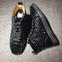 Cl Christian Louboutin Louis Spikes Style #1897 Sneakers Fashion Shoes - Best Deal Online