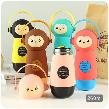 Hot Baby Bottles Eco-Friendly Kid Baby Cartoon Water Bottle Children Sport Bottle Cute Creative Thermo kettle For Outdoor School