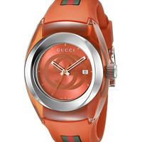 Gucci Stainless Steel Watch with Orange BYNC Band(Model:YA137311)