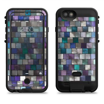 The Mosaic Purple and Green Vivid Tiles V4  iPhone 6/6s Plus LifeProof Fre POWER Case Skin Kit