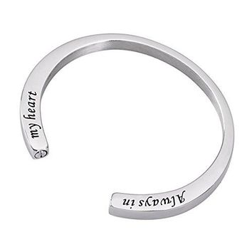 BY Cremation Jewelry Bracelet for AshnbspStainless Steel Memorial Bracelet