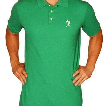 Flag Man Heritage Pique Polo - Infield Green