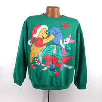 Ugly Christmas Sweater Vintage Sweatshirt Party Xmas Tacky Holiday Winnie the Pooh