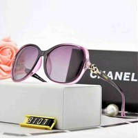 Chanel Trending Women Personality Summer Style Sun Shades Eyeglasses Glasses Sunglasses Purple I-A-SDYJ
