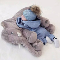 Giant Stuffed PLUSH ELEPHANT Toy Pillow Big Cute Soft Cuddly Plush Stuffed Animal Infant Baby Boy Appease Decoration Nursery Gift FreeUKPost