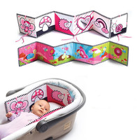 High Quality Baby Mobile Cloth Book Crib Bed Around Soft Plush Early Educational Cot Book Toys