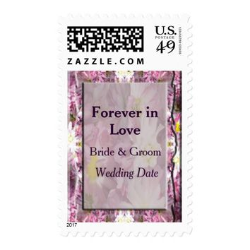 Victorian Mauve Floral Wedding Postage