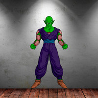 Piccolo Dragonball Z Decal - Piccolo Wall Decal Printed and Die-Cut Vinyl Apply in any Flat Surface- Dragon Ball Z Wall Decal Sticker