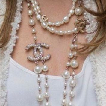 DKJN6 Women necklace With Pearl