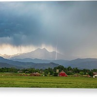Colorado Rocky Mountain Red Barn Country Storm Canvas Print