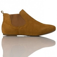 Millie Pixie Chelsea Boot in Tan Suede  - Footwear