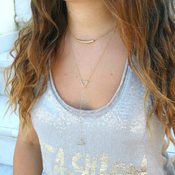 Jewelry New Arrival Shiny Gift Stylish Accessory Metal Hollow Out Tassels Chain Necklace [7316487239]