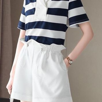 Stripe Top and Shorts Set