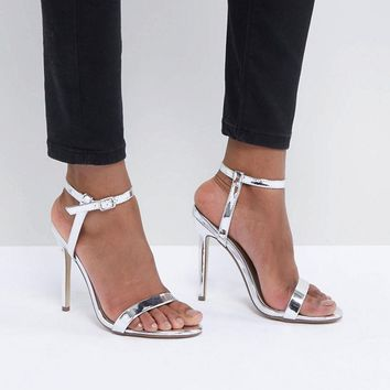 Missguided Barely There Heeled Sandals at asos.com