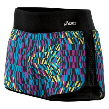 ASICS Illusion Printed Double-Layer Running Shorts - Women's, Size: