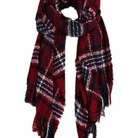Play Along Burgundy Multi Scarf