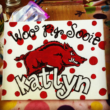 Razorback Personalized Painting on Canvas