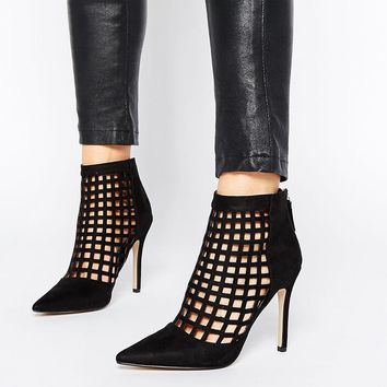 ALDO | Aldo Niredia Cut Out Heeled Ankle Boots at ASOS
