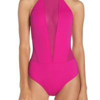 Ted Baker London Halter One-Piece Swimsuit | Nordstrom