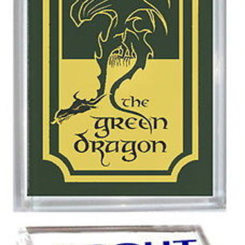 Lord Of The Rings Green Dragon Acrylic Executive Display Piece Paperweight