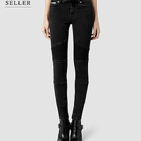 Womens Biker Jeans/Washed Black (Washed Black) | ALLSAINTS.com