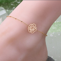 Stylish Cute Gift New Arrival Shiny Sexy Jewelry Ladies Summer Simple Design Chain Anklet(With Thanksgiving&Christmas Gift Box) [6768774151]