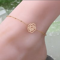 Stylish Cute Gift New Arrival Shiny Sexy Jewelry Ladies Summer Simple Design Chain Anklet [6768774151]