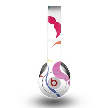 The Bold Colorful Mustache Pattern Skin for the Beats by Dre Original Solo-Solo HD Headphones