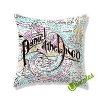 Panic At The Disco Lyric Square Pillow Cover