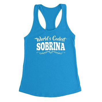 World's coolest sobrina the best nice birthday gift ideas for her number one niece Ladies Racerback Tank Top