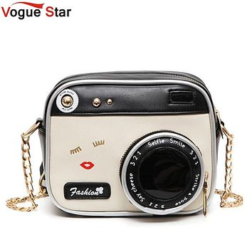 Camera Shape Shoulder Bag Personality Camera Modeling Bag Women Messenger Chain Bag Cheap Women Handbags Purse Wallet LB416